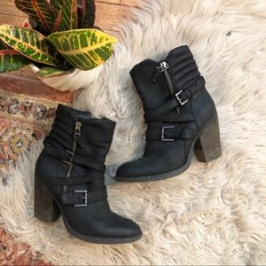 Steve Madden Raleighh Black Leather Boots